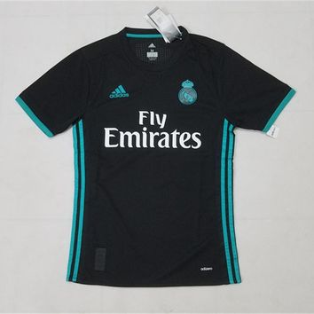 KUYOU Real Madrid 2017/18 Away Match Men Soccer Jersey Personalized Name and Number