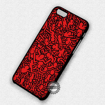Art Keith Haring - iPhone 7 6 Plus 5c 5s SE Cases & Covers