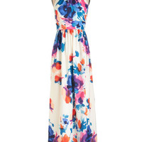 ModCloth Long Halter Maxi A Classy of Its Own Dress in Floral