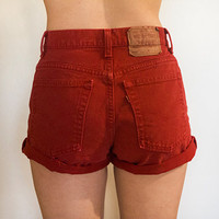 Red High Waisted Levi's