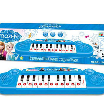 Retail Musical instruments toy kids Frozen girl electronic organ toy keyboard electronic baby piano with music 8 song best child gift