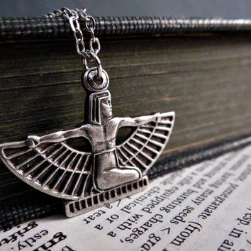 Isis Necklace - Silver Egyptian Goddess
