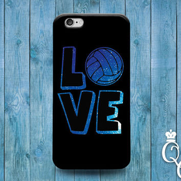 iPhone 4 4s 5 5s 5c SE 6 6s 7 plus iPod Touch 4th 5th 6th Generation Cute Love Volleyball Black Blue Custom Cool Sporty Sport Girl Boy Case