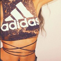 Adidas Short Crop Top Vest Tank Cami
