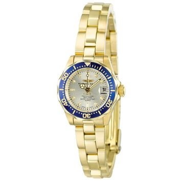Invicta 4610 Women's Pro Diver Collection Gold Plated Watch