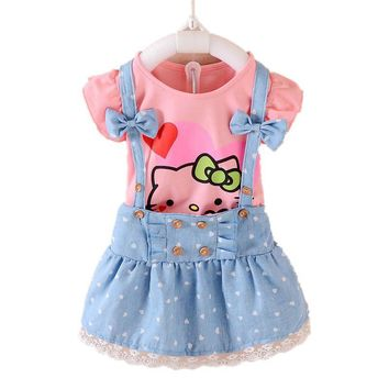 Hello Kitty Bow Girls Dress