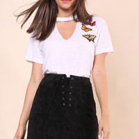 JET x Mixology Burn Out Choker Tee With Patch