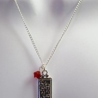 Love Much Silver Charm on Silver Chain