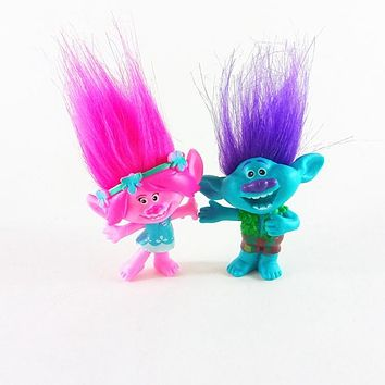 Movie Trolls Figures Poppy Branch Gift Toys Movie Characters Poppy Troll Christmas Birthday Kids Figurines Doll Poupee Cute Toy