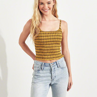 Girls Smocked Crop Cami | Girls Tops | HollisterCo.com