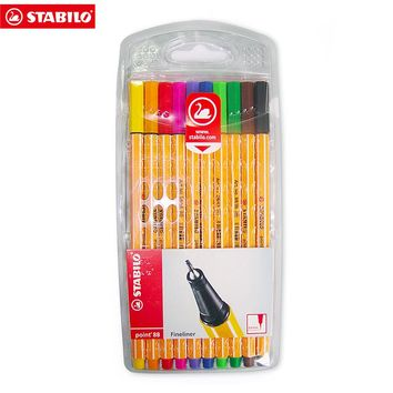 Stabilo Point 88 Pen Sets Wallet Set Micron Liner Fiber Pens Sketch Marker Colores Drawing Manga Student School Art Supplies