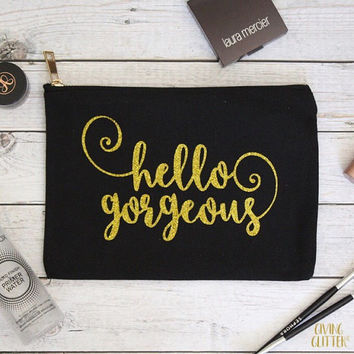 Hello Gorgeous // Glitter Makeup Bag