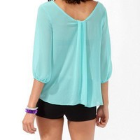 Pleated A-Line Top