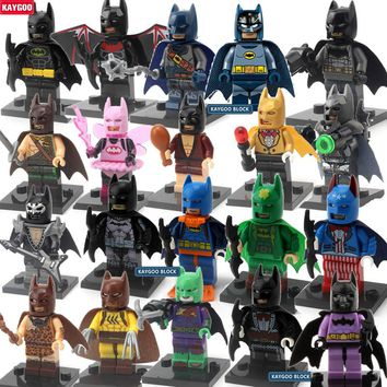 Kaygoo New Comics Universe pajamas Batman Movie Super Heroes Bricks Building Blocks Collection Toys for Children Gift Xmas Gift
