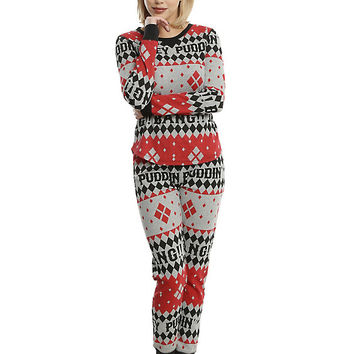 DC Comics Harley Quinn Girls Thermal Sleep Set