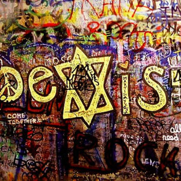 Coexist Berlin Wall Graffiti Poster 24x36