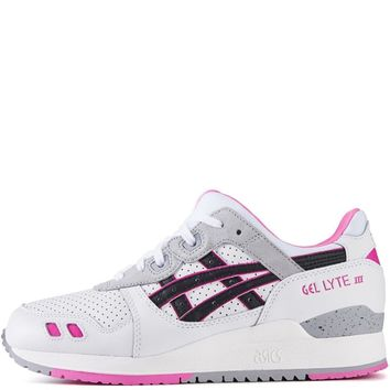 fashion online asics for women gel lyte iii white black running shoes  number 1