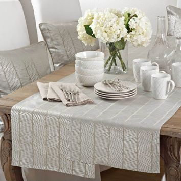 Calista Herringbone Table Runner | 72-Inch