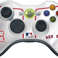 MLB Boston Red Sox Xbox 360 Wireless Controller Skin - Boston Red Sox Home Jersey Viny