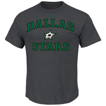 Majestic Dallas Stars Heart & Soul T-Shirt - Charcoal