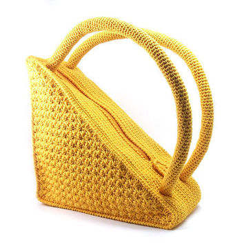 Unique Crochet Triangle Bag Fashionable Stylish Young by Aimarro