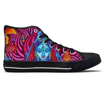 Lakshmi by Alex Aliume - High Top Canvas Shoes
