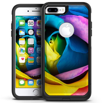 Rainbow Dyed Rose V3 - iPhone 7 or 7 Plus Commuter Case Skin Kit