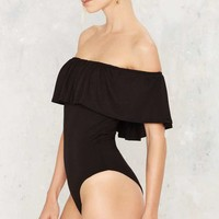 In All Bareness Off-the-Shoulder Bodysuit