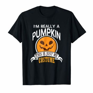 Pumpkin Halloween Costume T-shirt This Is Just My Costume