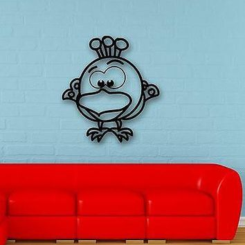 Wall Stickers Vinyl Decal Funny Bird for Children's Baby Room Nursery Unique Gift (ig630)