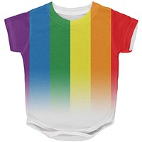 LGBT Gay Pride Rainbow Flag All Over Baby One Piece