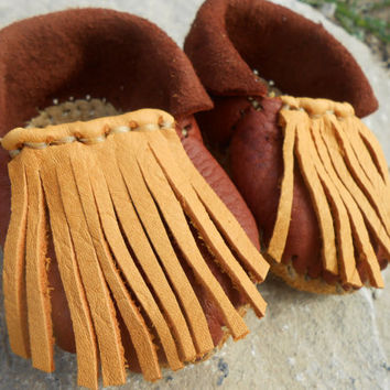 Baby Moccasins, Infant Booties, Baby Shoes, Handmade, Handsewn, Native American Inspired, 3-6 Months, Mountain Man, Rendezvous, Powwow
