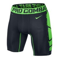 "Nike Store. Nike Pro Combat 6"" Hypercool Compression Grid Print Men's Shorts"