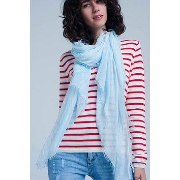 Thin Light Blue Scarf