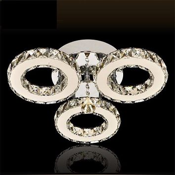 Crystal  Led Ceiling Chandelier Light