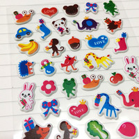 Small Animal Sticker Cute Cartoon Stickers Diary Shchedule Decoration Planner Kawaii Stationery