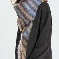 Multicolor Striped Knitted Scarf