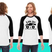 lifted truck American Apparel Unisex 3/4 Sleeve T-Shirt