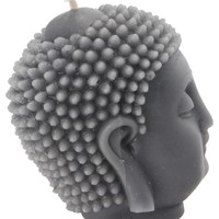 Buddha Head Candle | Beeswax Candle | Gray Candle