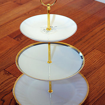 Glam Gold and Silver Cake Stand and Cupcake Stand