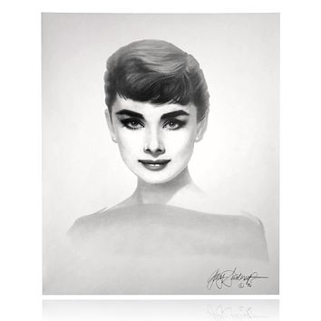 AUDREY HEPBURN 20X24 LITHOGRAPH BY ARTIST GARY SADERUP SIGNED POSTER PHOTO