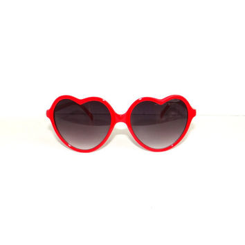 Vintage LOLITA Red Frame Heart Shaped Sunglasses by NicFitVintage