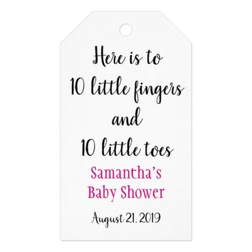 Ten Little Fingers Ten Little Toes Baby Shower Tag