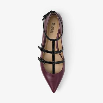 Marta Two-Tone Leather Flat | Michael Kors