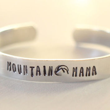 mountain mama, mountain jewelry, adventure jewelry, camping jewelry, west virginia jewelry, mountain mama bracelet, mama jewelry, mommy jewe