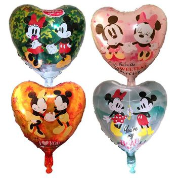50pcs Mickey Minnie Mouse Love Balloons Helium Air Balloon Wedding/Birthday Party Balloons For Baby Birthday Decoration balloons