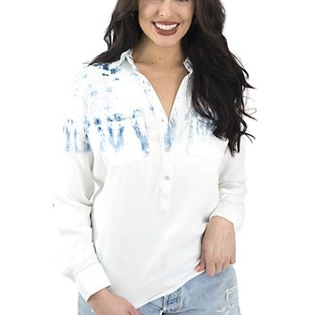 Women's Tribal Acid Washed Chambray Shirt
