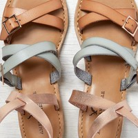 AEO Women's Strappy Ankle Wrap Sandal