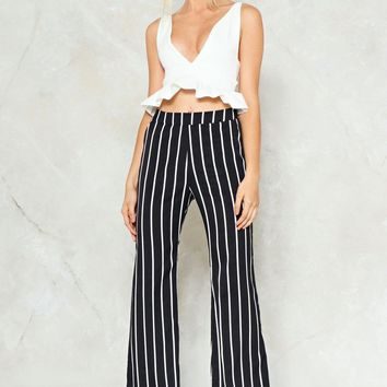 Total Stripe Out Flare Pants