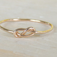 Infinity 14karat Gold ring // Dainty bridal Jewelry Ring // made to order